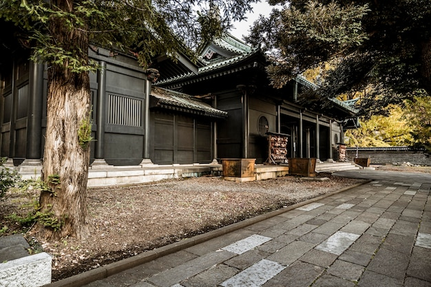 Cortile del tempio giapponese tradizionale
