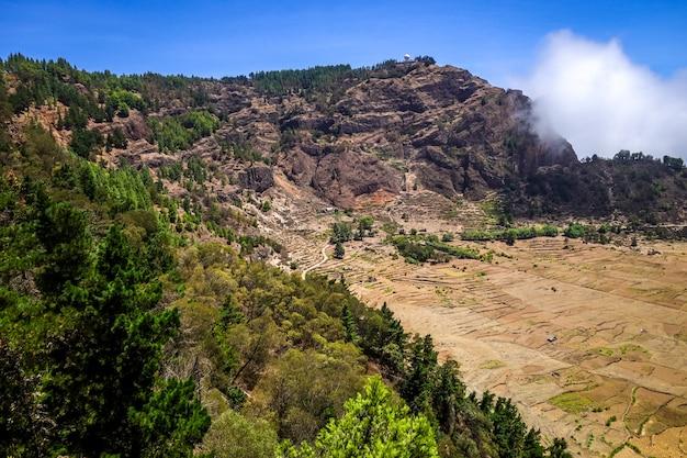 Cratere votano della cova de paul nell'isola di santo antao, capo verde