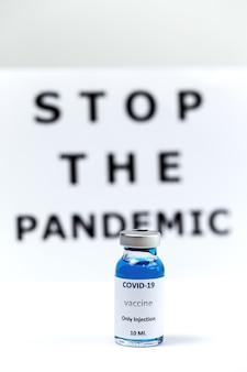 Covid19. vaccino con consigli per la pandemia. prevenzione del concetto di pandemia