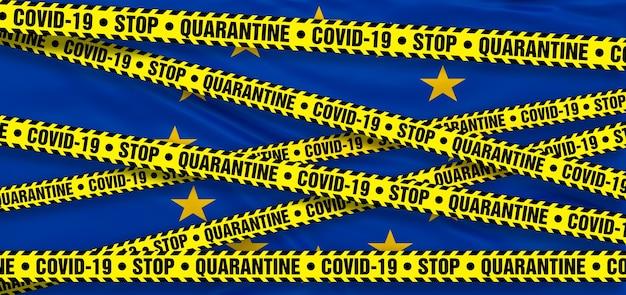 Area di quarantena del coronavirus covid19 nell'unione europea