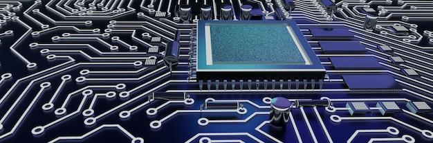 Sfondo di cpu e chip di computer