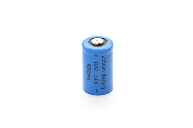 Batteria al litio cr2 isolata