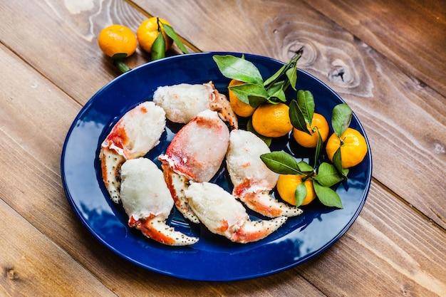 Polpa di granchio, frutti di mare, cibo, cibo e piatti, frutti di mare, cibo sano e cucina
