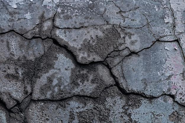 Fondo incrinato del pavimento di cemento del cemento di struttura della parete, fondo astratto di rock
