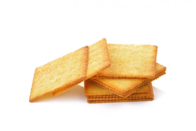 Cracker isolato sopra sopra bianco