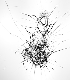 Modello di crepe sul vetro rotto