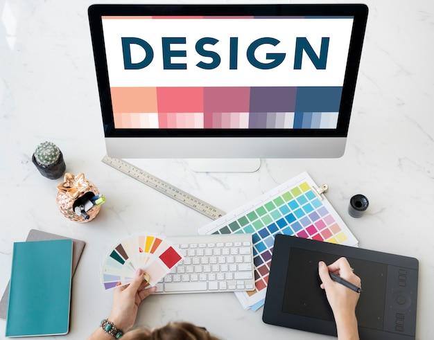 Crea idee creative design concept