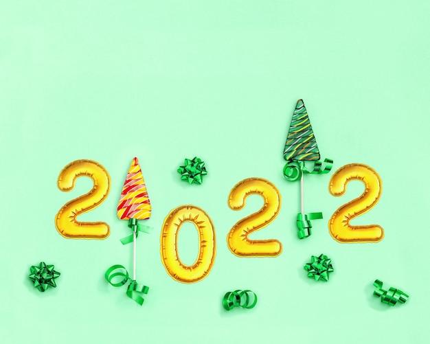 Caramelle colorate creative per lo sfondo delle vacanze di capodanno