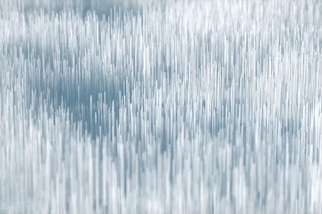 Design creativo, parete astratta bianca, campo e capelli. forma futuristica. rendering 3d, illustrazione 3d.