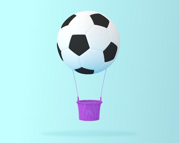 Creativo del pallone da calcio in mongolfiera