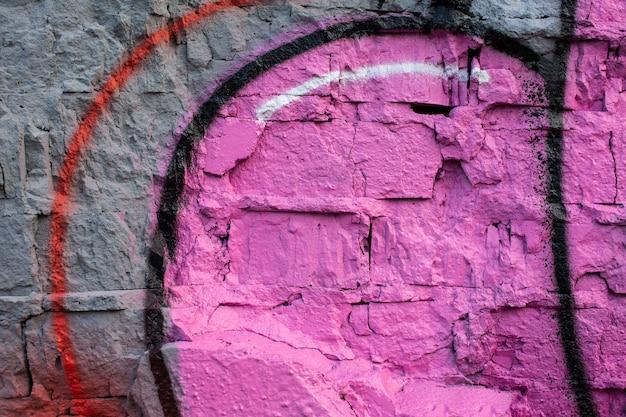 Sfondo di graffiti murali creativi