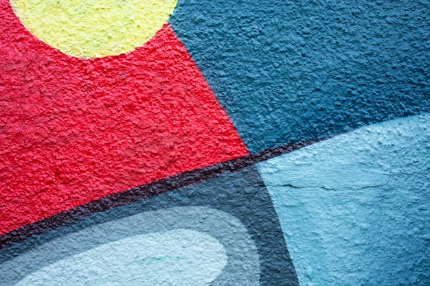 Carta da parati murale creativa con graffiti