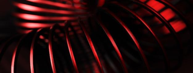 Spirale rossa creativa, immagine di sfondo astratta