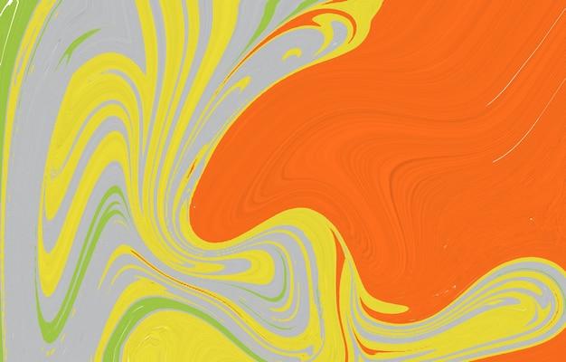 Composizione di forme creative trama di marmo spruzzi di vernice fluido colorato può essere utilizzato per poster