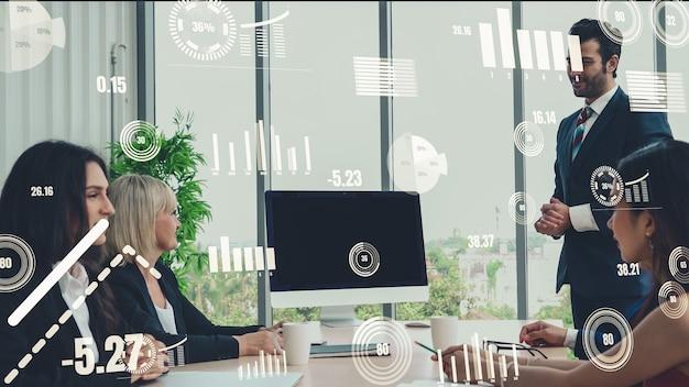 Grafica creativa della tecnologia di analisi dei dati aziendali