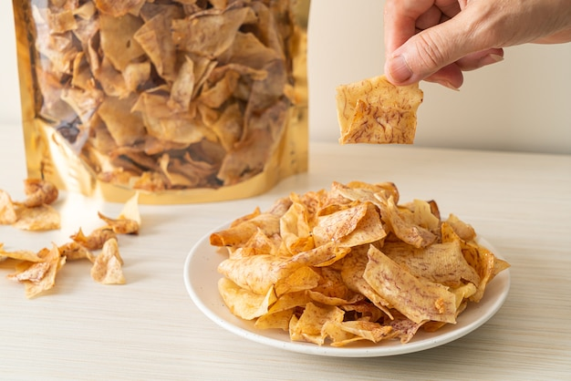 Chips di taro dolci croccanti - snack salutare