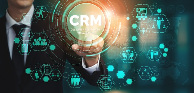 Crm customer relationship management per il concetto di sistema di marketing delle vendite aziendali