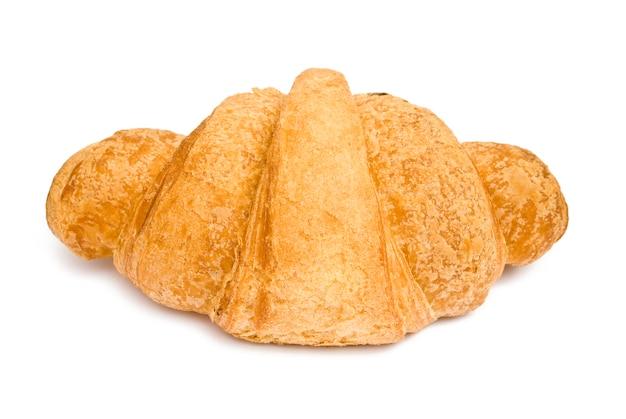 Croissant su bianco isolato