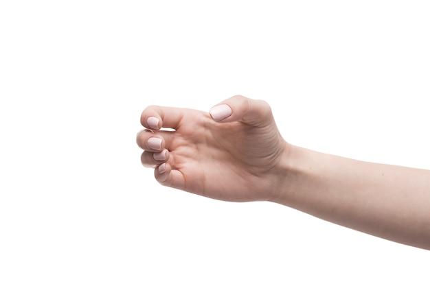 Ritaglia la mano tenendo l'oggetto invisibile