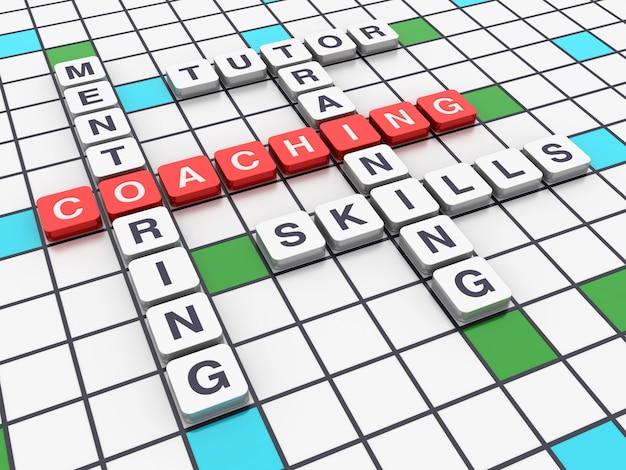 Concetti di coaching delle parole incrociate