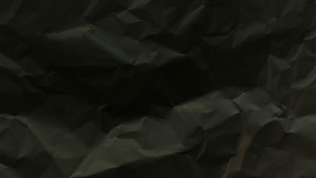 Trama di foglio di carta nera stropicciata