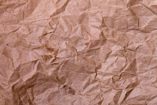 Carta marrone stropicciata. sfondo per il design
