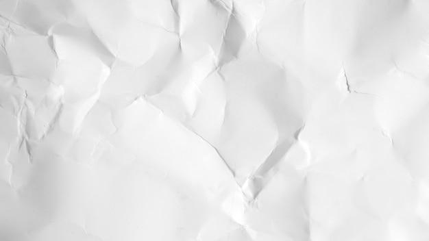 Sfondo bianco carta stropicciata. cartone bianco
