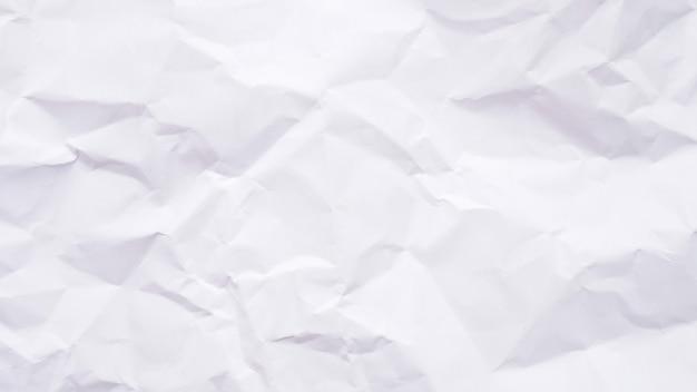 Trama del foglio di carta stropicciata bianco
