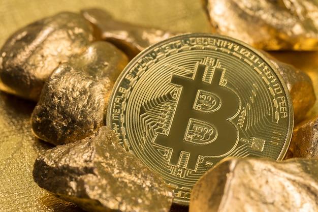 Monete d'oro di criptovaluta bitcoin ethereum litecoin