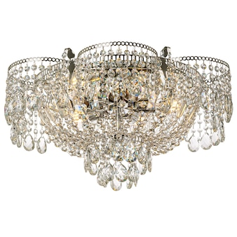 Lampadario in cristallo con elementi in metallo lucido plafoniera in stile classico