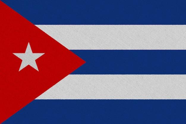 Bandiera cuba in tessuto