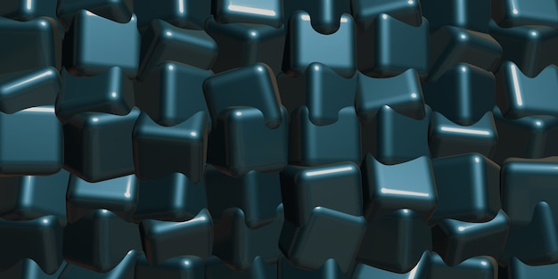 Cubo astratto sfondo 3d'illustrazione