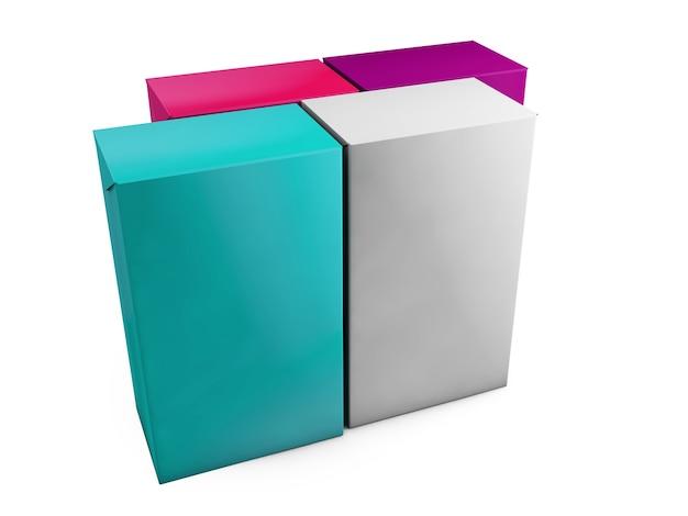Cubo sul fondo dello studio della parete. rendering 3d
