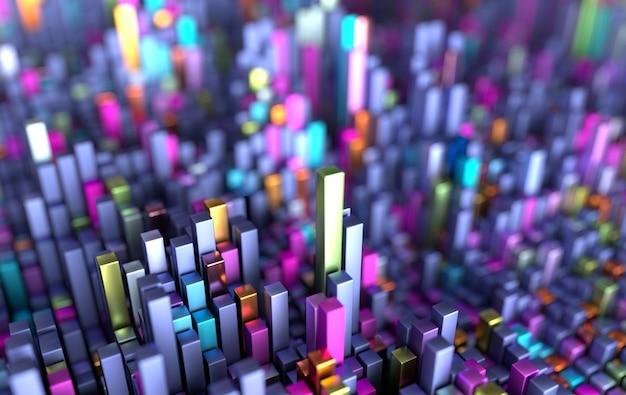 Fondo futuristico del modello dei cubi