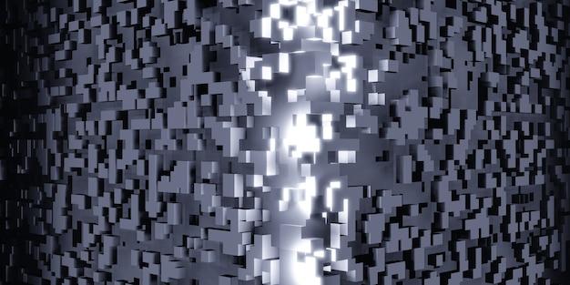 Cubi pixel cubo di rubik isometrica geometrica astratta dati digitali concetto struttura complessa 3d