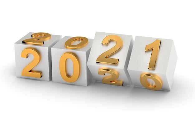 I cubi con il numero 2021 sostituiscono il 2020