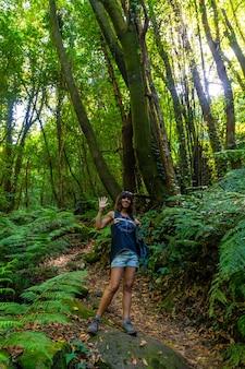 Parco naturale del cubo de la galga sulla costa nord-orientale dell'isola di la palma