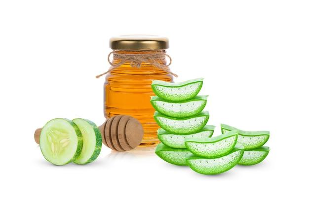 Cetriolo, miele e aloe vera