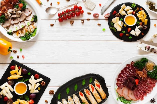 Menu cucina banchetti ristorante buffet snack party