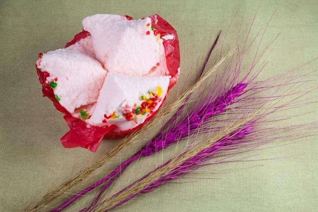 Cup cake o torta di cotone idrofilo (dolci capodanno cinese)