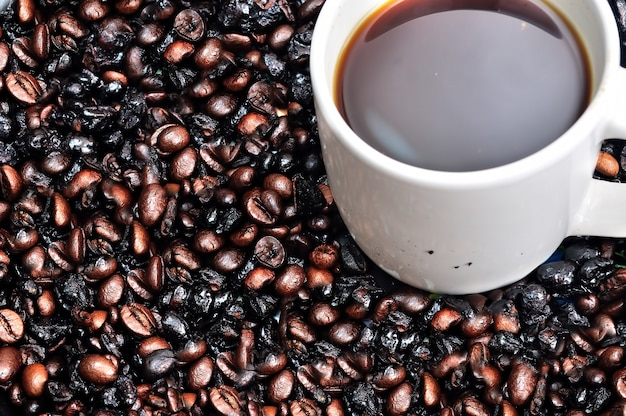 Primo piano della tazza di caffè
