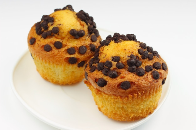Cupcakes su un bianco da vicino