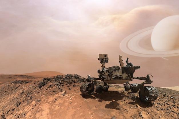 Curiosità mars rover che esplora la superficie del pianeta rosso.