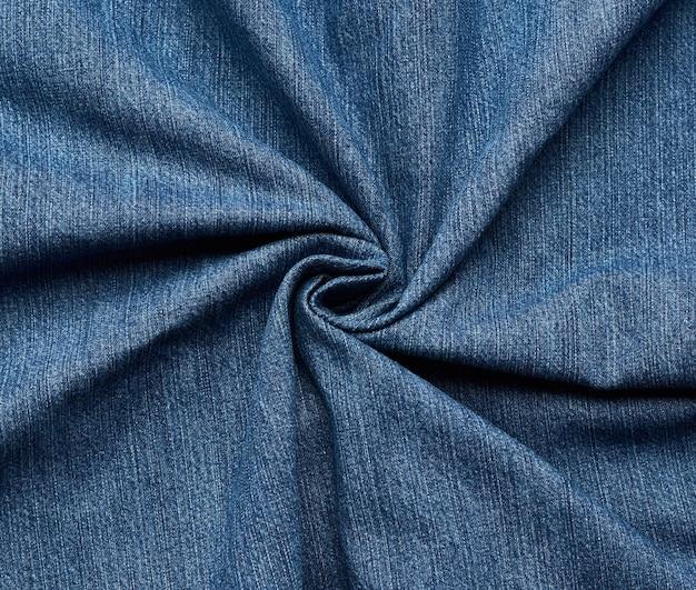 Struttura del tessuto jeans arricciati