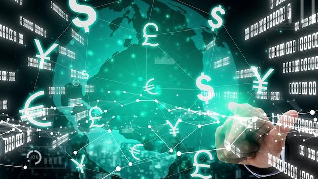 Cambio valuta globale denaro estero finanza conceptual