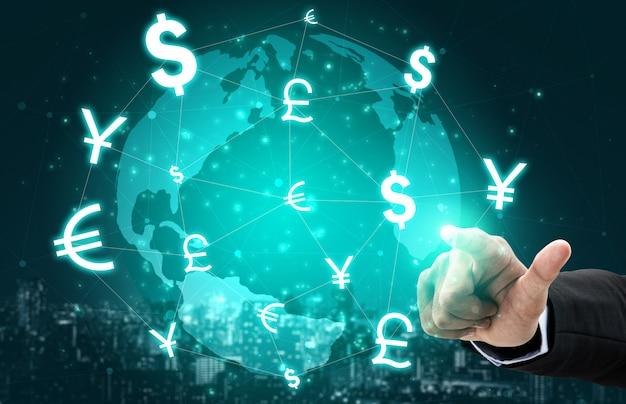 Finanza globale dei soldi esteri di cambio.