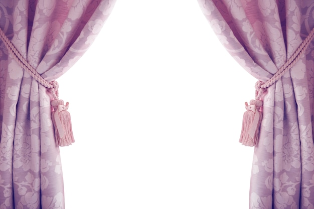 Tende isolate su fondo bianco, porpora