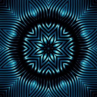 Curve del reticolo metallico, la lucentezza dell'acciaio, sfondo astratto degli elementi di collegamento in metallo