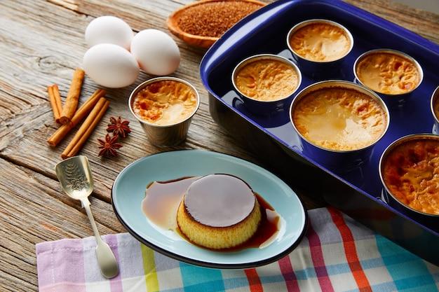 Crema pasticcera caramel flan dessert bain marie