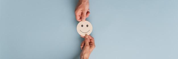 Immagine concettuale di soddisfazione del cliente